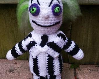 Crochet doll Beetlejuice betelgeuse 6 sci-fi geek retro | Etsy | 270x340