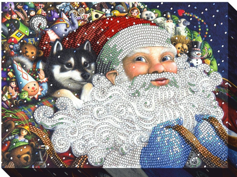 DIY kit de de de broderie de perle «Père Noël», peinture ensemble, décoration murale, tapisserie perles perlée, livraison gratuite 6bb355