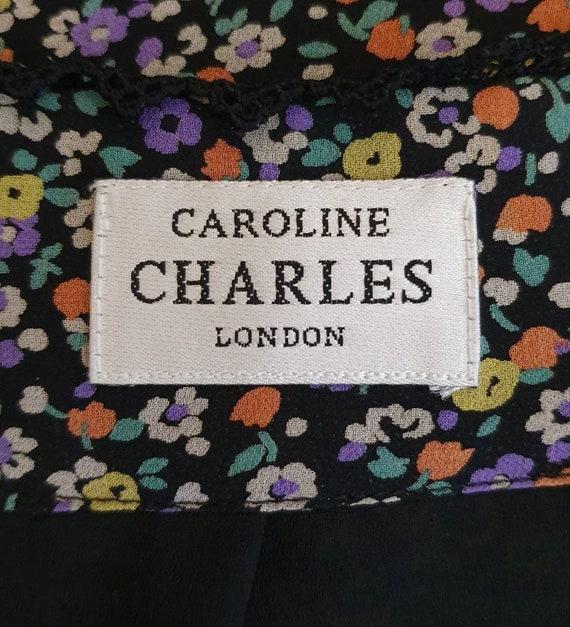 CAROLINE CHARLES LONDON Silk Two Piece Set. Flora… - image 9