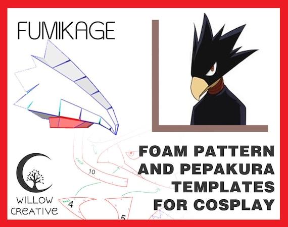Fumikage Tokoyami Mask Template