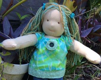 "Waldorf doll EVA / 12 "" / long hand-spun hair"