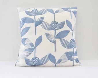 Floral Cushion, Blue Pillows, Floral Pillow, Blue and White Cushions