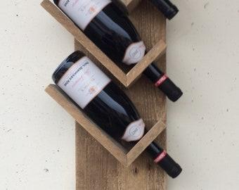 Wooden bottle carrier.