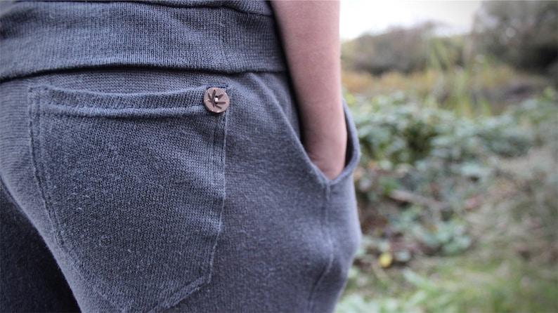 ddd3a13264 Hemp knitted jogging trousers hemp yoga pants hemp knit   Etsy