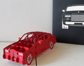 Rolls-Royce Car 3d Pop up Card -Birthday- Congratulations- Blank-New Car-Driving Test (sku109)