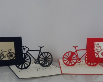 Bicycle Bike 3d Pop up Card - blank- birthday-retirement(sku047)