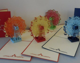 Ferris Wheel - 3d - Pop up Card - Birthday - Wedding (sku027/060/168 )