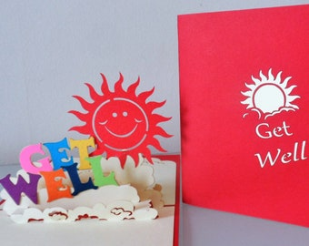 Get Well 3d Pop up Card (sku031)