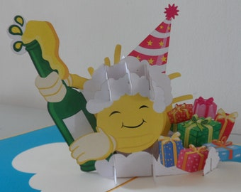 Time to Celebrate !3d - Pop up Card - Congratulations- Birthday- Anniversary- Well Done