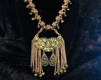 Emerald Chandelier Necklace