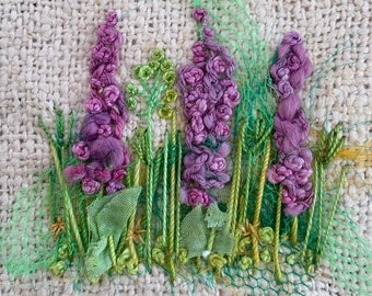 Delphiniums Creative Embroidery Kit
