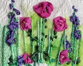 Roses & Larkspur Silk Ribbon Creative Embroidery Kit