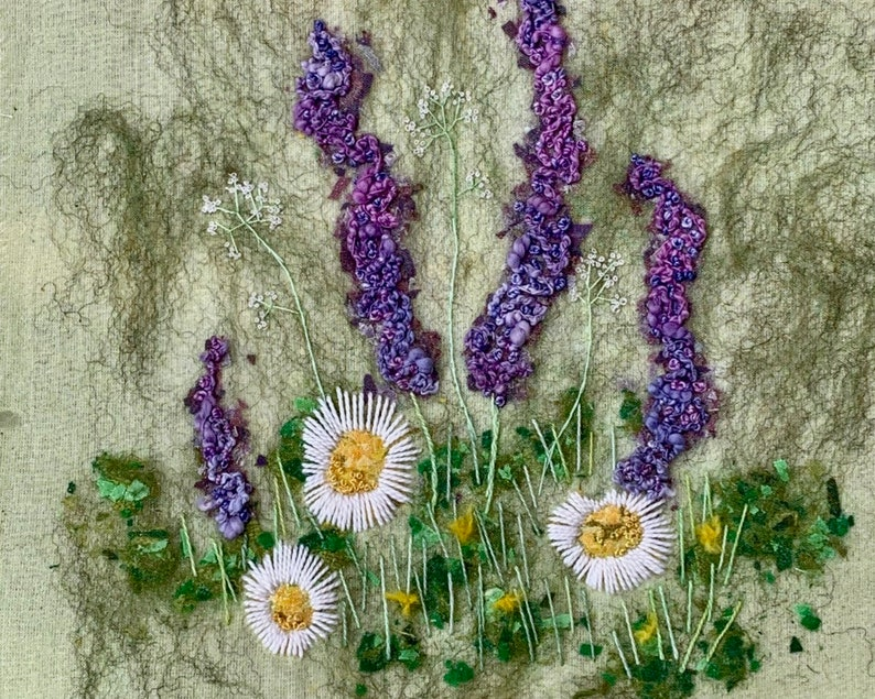 How Does Your Garden Grow Delphiniums and Daisies Creative image 3