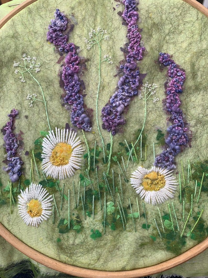 How Does Your Garden Grow Delphiniums and Daisies Creative image 1
