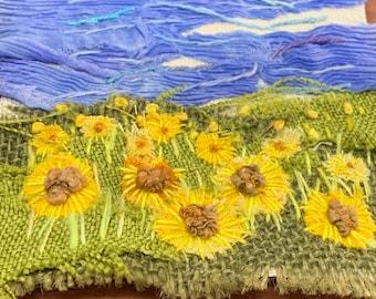 Mini Textile Landscape Sunflower Meadow Kit