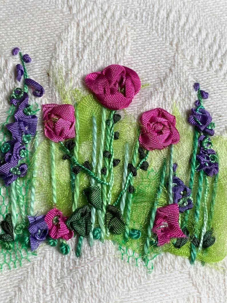 Roses & Larkspur Silk Ribbon Creative Embroidery Kit image 6