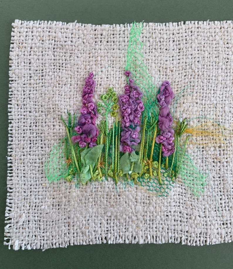 Delphiniums Creative Embroidery Kit image 1