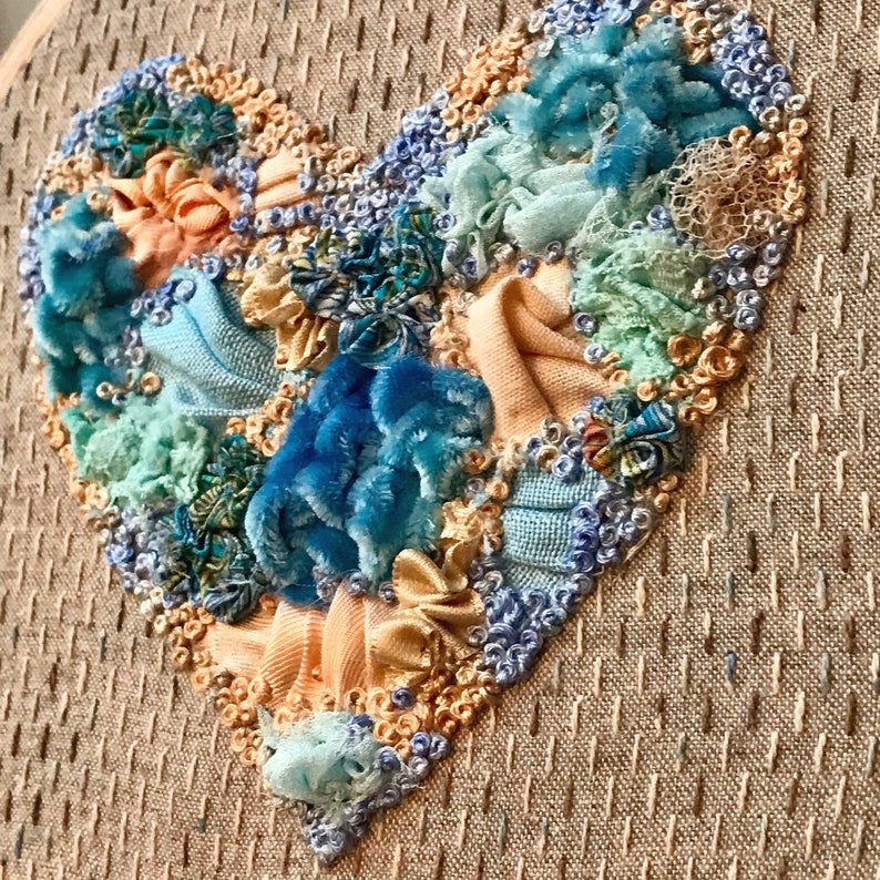 Manipulated Fabric Heart Creative Embroidery Kit  image 1