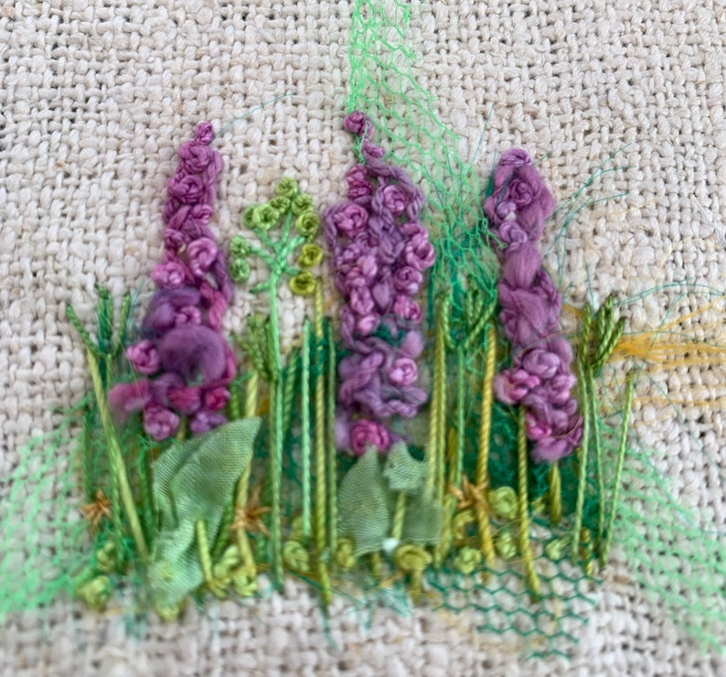 Delphiniums Creative Embroidery Kit image 7