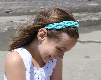 Bandeau pour fillette ou adulte BOUCLE,  bandeau enfant en macramé couleur, bandeau en nylon et macramé. Bandeau macramé