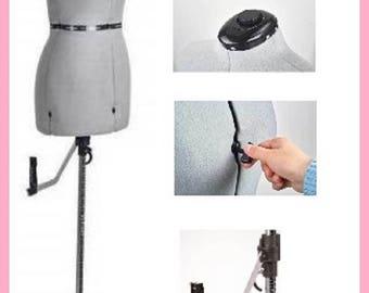 Adjustable Professional Mannequin Dress Form Grey