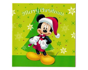 christmas cards mickey mouse disney set of 5 includes matching envelopes