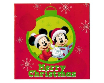 christmas cards mickey minnie mouse disney set of 5 includes matching envelopes