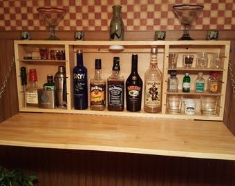 Beau Custom Muphy Bar Liquor Cabinet With Adjustable Shelves