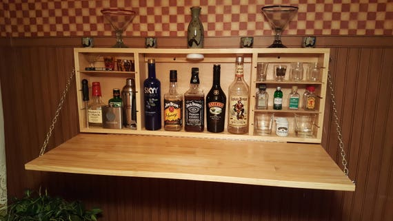 Custom Muphy Bar Liquor Cabinet With Adjustable Shelves | Etsy