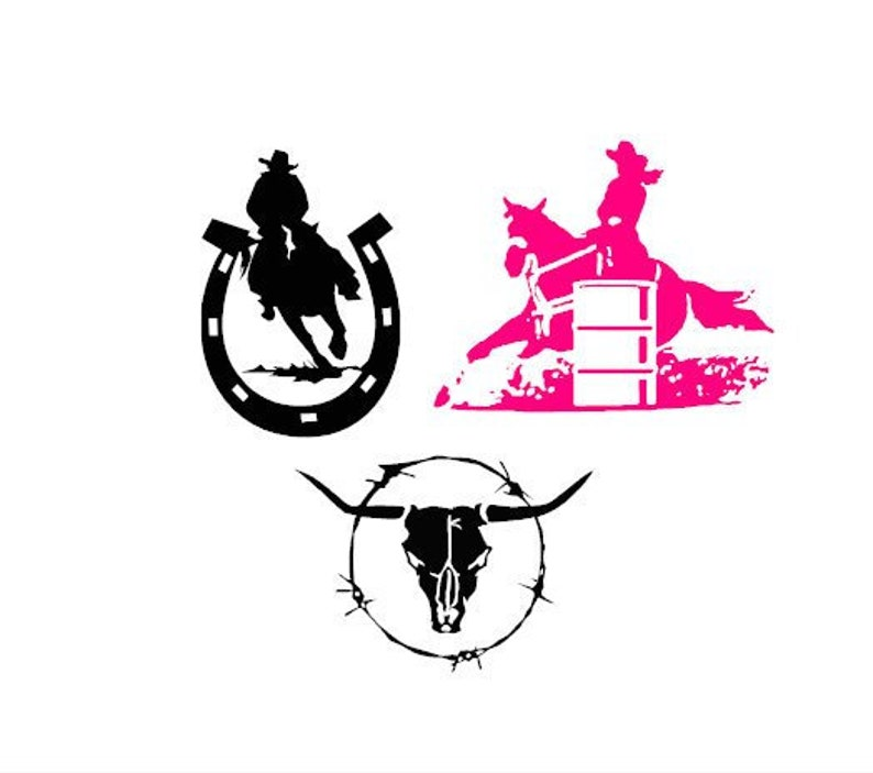 Chroma 8958 Cowgirl Up Stick-Onz Decal