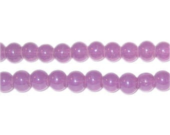 6mm Dark Violet Jade-Style Glass Bead, approx. 77 beads