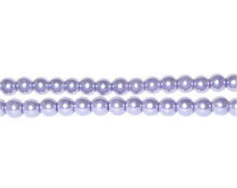 4mm Lilac Glass Pearl Bead, approx. 113 beads
