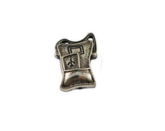 14 x 18mm Antique Silver Backpack Charm - 4 charms