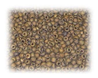 11/0 Sand Brown Opaque Glass Seed Beads, 1 oz. bag