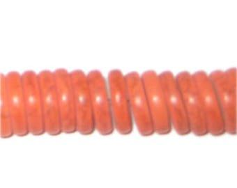 "12mm Orange Heishi Beads - 2.5"" string"