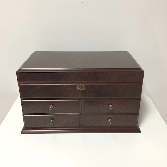 Large Solid Wood Jewelry Box | Extra Large Jewelry