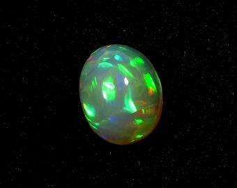 Ethiopian Opal Stone Oval Cabochon Ethiopian Opal Flashy Opal 2 Cts 14X7.5X4mm PG-1350