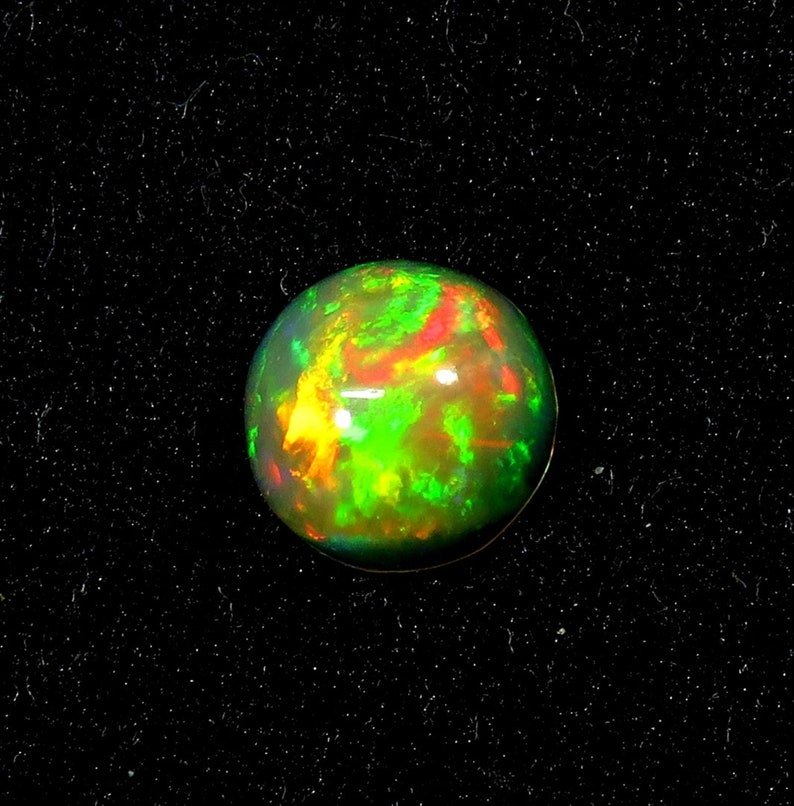 1.30Cts Natural Ethiopian Opal Gemstone Cabochon Round 8X8X4mm Ethiopian Opal Beads Opal PG-1325