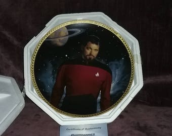 Star Trek, Commander T. Riker,The Hamilton Collection Plate, Collector Plate ,
