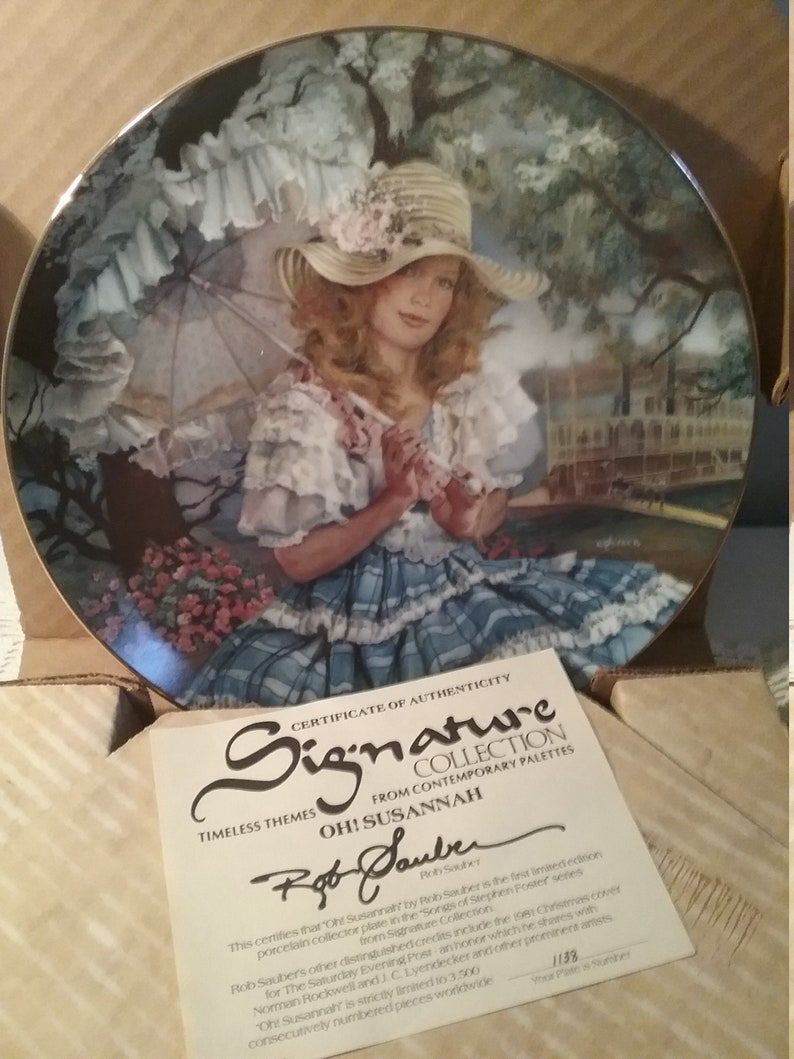 Susannah Collector plate by Rob Sauber Vintage Oh