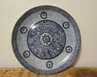 """Vintage 222 Fifth Blue Dynasty Design """"C"""" Blue & White Floral"""