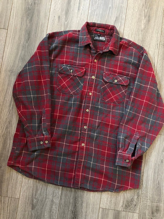 Vintage Canyon Guide Outfitters Red Flannel Shirt,