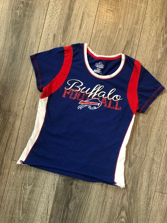 Buffalo Bills Football Ladies Cropped Shirt, Buffa