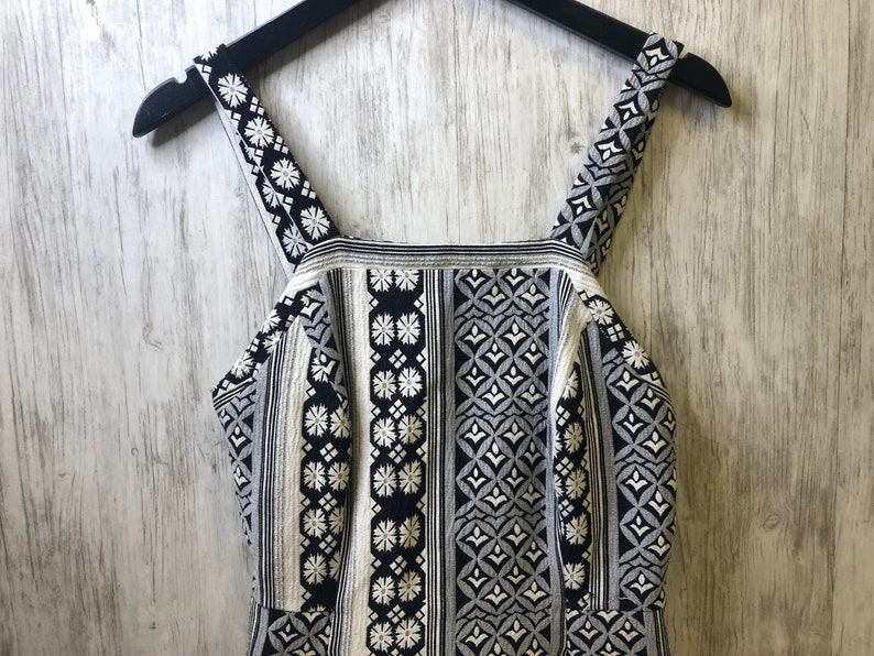 Vintage Geometric Print Dress