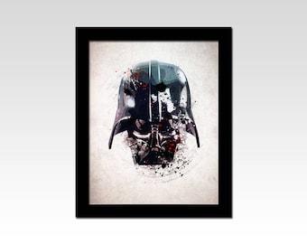 Star Wars inspired Darth Vader Helmet abstract print