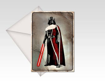 Star Wars inspired Darth Vader Christmas card