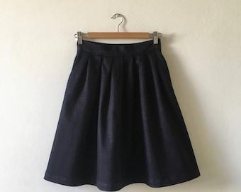 7 Pleated denim Skirt