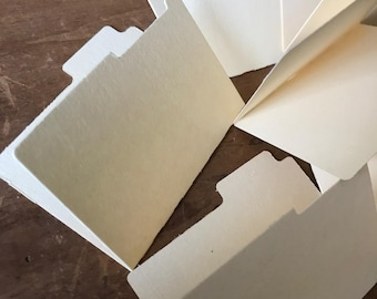 Set Of Eight Mini File Folders Tab Journal Supplies Embellishments Junk Journals Papercrafting DIY Book
