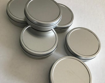Round Aluminum Tins .  Choice of Two Sizes . Metal Cans . Storage Tins . Favor Tins . Product & Gift Packaging . Craft/Part Storage
