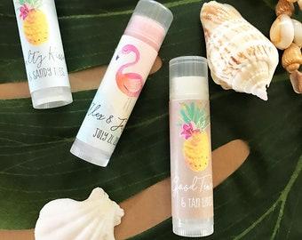 Personalized Tropical Beach Lip Balm Tubes (24)